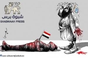 مقطع ''فيديو'' لموكب اللواء علي محسن الأحمر لحظة هروبه من مقر الفرقة